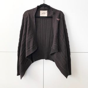 2/25 Hollister draped open front knit cardigan